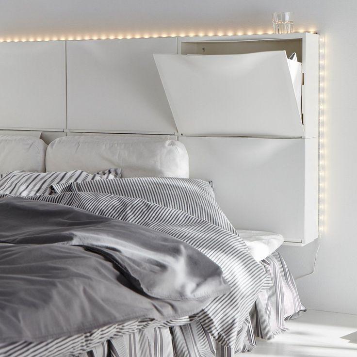 15 Tetes De Lit Avec Rangements Pour Contrer Le Bazar Dans La Chambre Tete De Lit Avec Rangement Lit Rangement Et Tete De Lit Ikea
