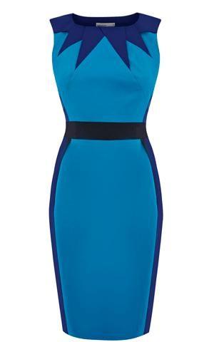 Karen MillenColourblock Dresses, Millen, Graphic, Blue Dresses, Colourblock Bleu, Colourblock Vestidos, Dresses Blue, Graphics Colourblock, Graphique Robe