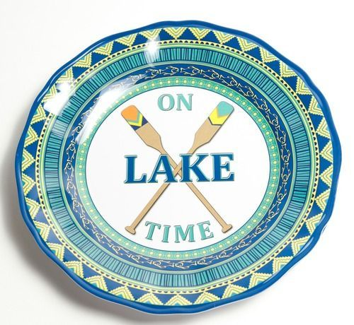 On Lake Time Dinner Plates- Set of 4