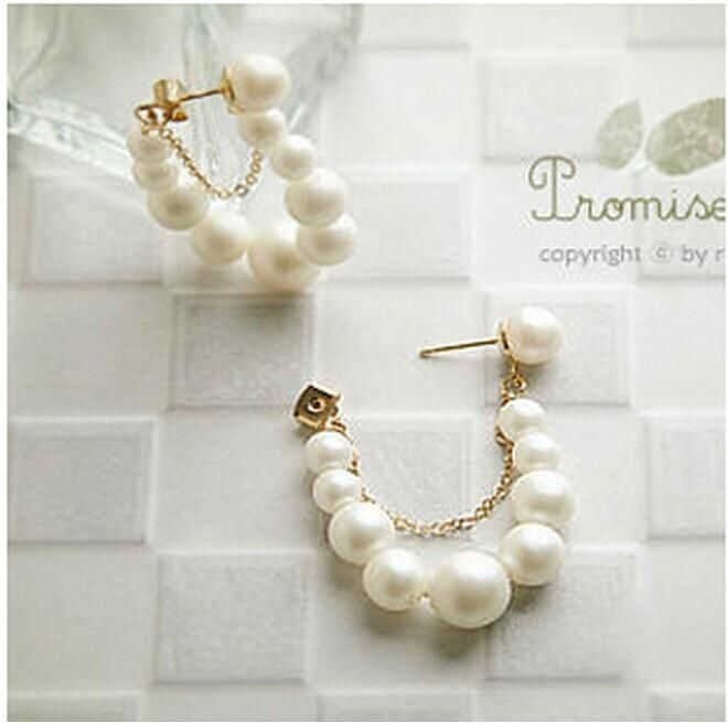 String earrings pearl earrings original meaning / earrings