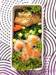 tsibi bento butterfly shaped onigiri lunch bento