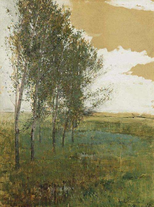 ANTONÍN SLAVÍČEK (1870-1910) Landscape  poetic wanderlust tracy porter