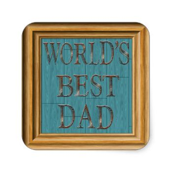 Features a blue barn board background with wooden frame copper letters that spell out World's Best Dad. Perfect gift for Dad this Father's Day. This design was created using original artwork© www.delightful-doodles.com (No real wood, or copper is on this paper product, it is artistically designed to appear this way) #father's #day #happy #father's #day #happy #fathers #day #fathers #day #father #dad #daddy #pop #world's #best #dad #barn #board #blue #barn #board #copper #letters…