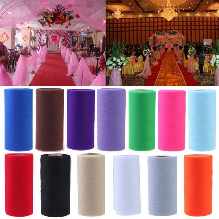 25 Yards - 6 Inch Colorful Tissue Tulle Paper Wedding Decoration – Great Deals and More