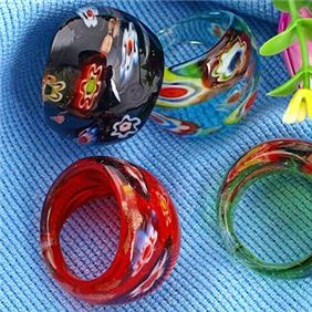 Love glass ringsGlasses Jewelry, Venetian Glasses, Lampworking Glasses, Murano Glasses, Glasses Rings, Glasses Fused, Glasses Murano