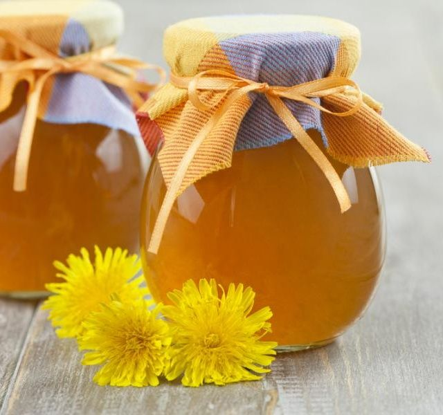 Pampeliškový med (sirup) s pomerančovou příchutí