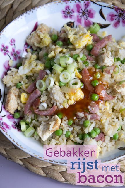 Fried rice with bacon - by BrendaKookt.nl
