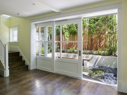 love the large sliding panel glass door