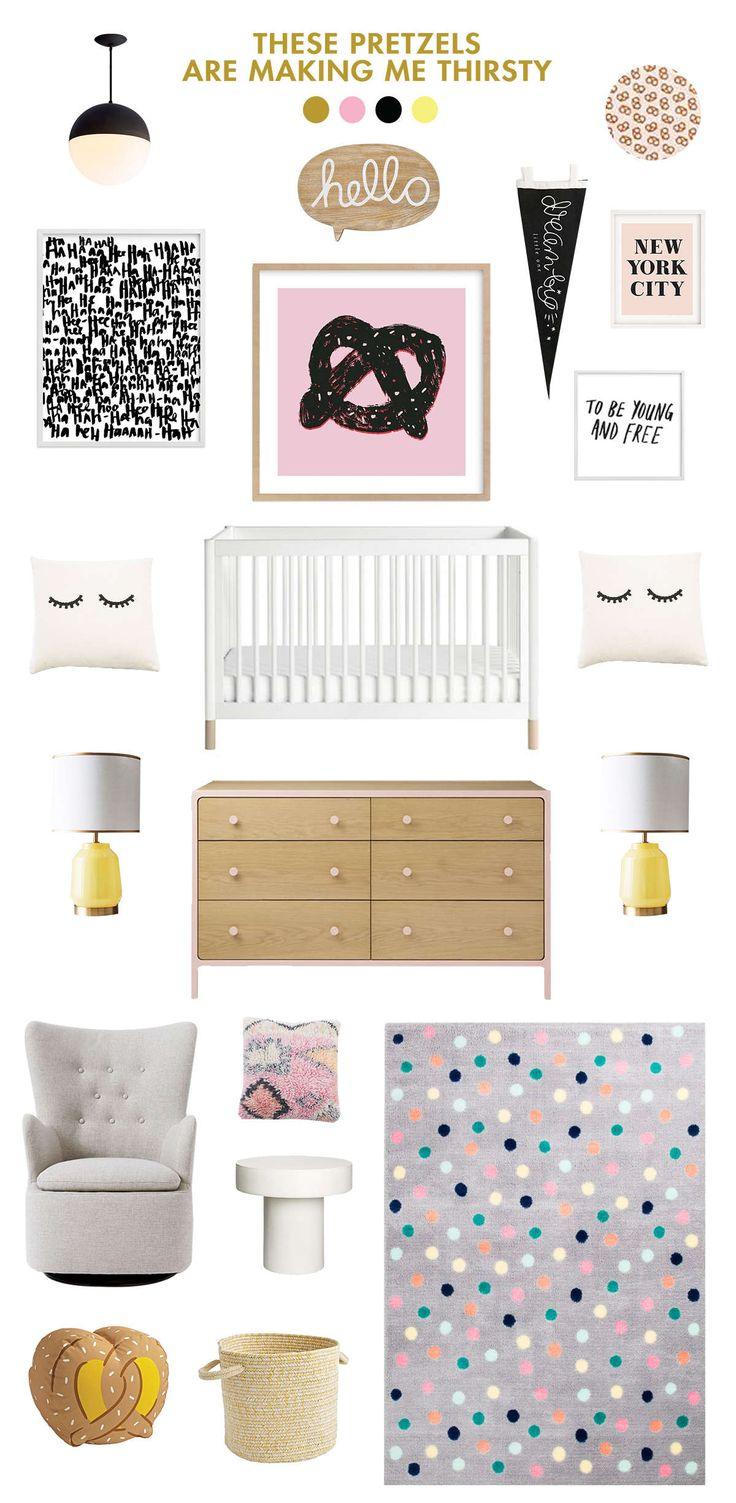 black and pink baby nursery ideas