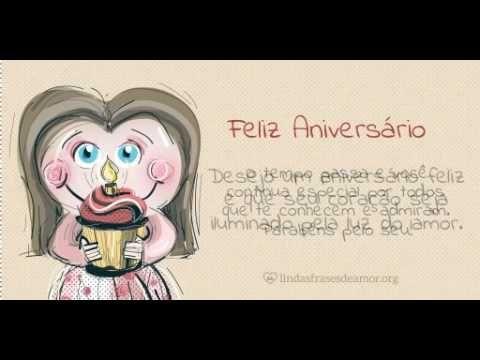Feliz Aniversario - Menina Castanho Claro
