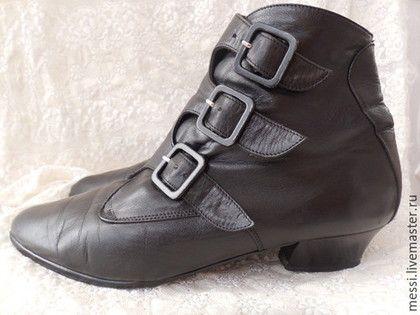 Винтажная обувь. Ярмарка Мастеров - ручная работа. Купить Винтажные ботильоны Gautsche, р.38,5 БоХо, кожа. Handmade.