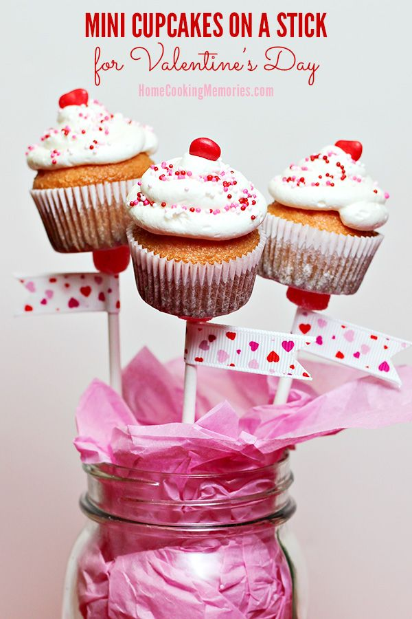 Learn how to make Mini Cupcakes on a Stick for Valentine's Day! Make a sweet bouquet for someone special or for a fun treat for your Valentine's Day party. Easy-to-make with your favorite cake mix, frosting, and a few other supplies. Full instructions on the blog.