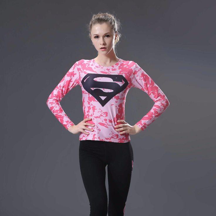 Mulheres T shirt Do Corpo Armadura traje Maravilha Superman Batman 3 d impressão T Camisa Da Menina de Manga Longa Calças De Fitness Compressão tshirts em Camisetas de Das mulheres Roupas & Acessórios no AliExpress.com   Alibaba Group