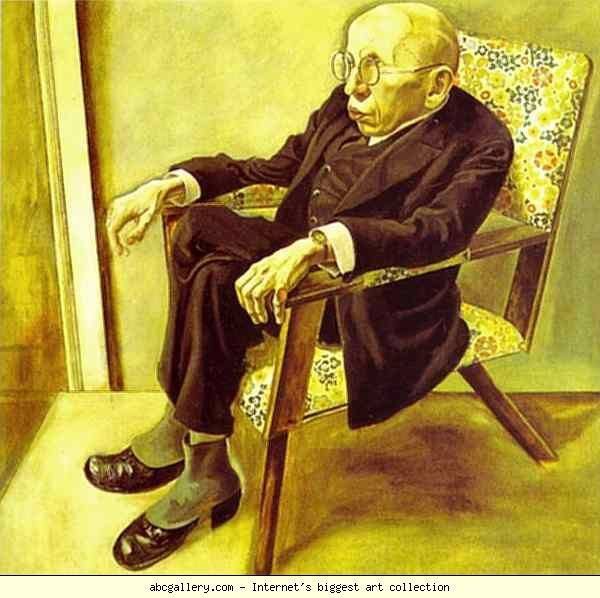 George Grosz (German, American 1893–1959) [Dada, Neue Sachlichkeit] Portrait of the Writer Max Herrmann-Neisse. 1925. Oil on canvas. 100 x 101 cm. Staatliche Kunsthalle, Mannheim, Germany.