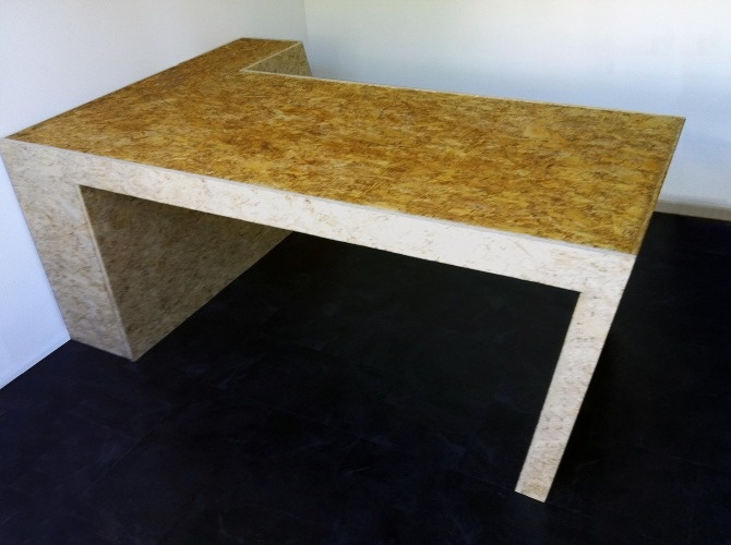 Osb desk bureau nuance home office in 2019 pinterest plywood