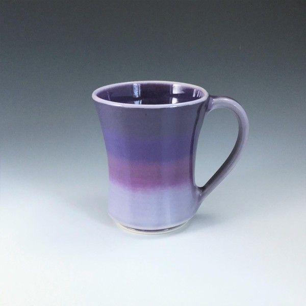 handmade ceramic mug ceramic coffee mug purple coffee cup large