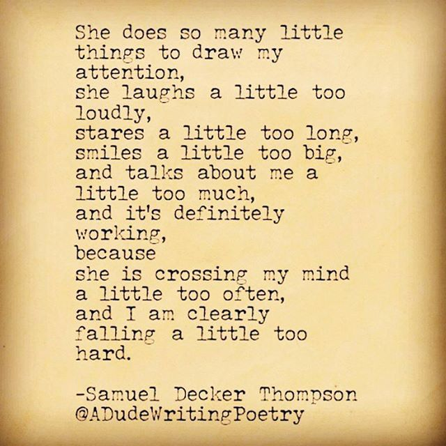 An old one. #SamuelDeckerThompson  @ADudeWritingPoetry