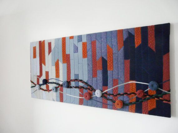 Textile wool art quilt by MAGDAMHANDMADE on Etsy