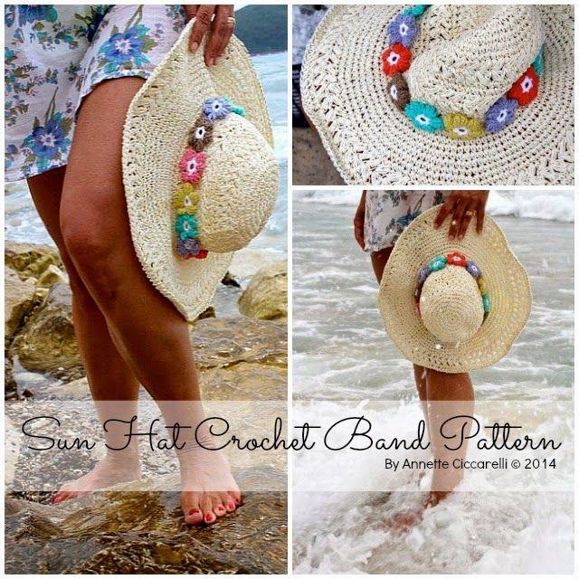 My Rose Valley: Free Pattern: Sun Hat Crochet Band