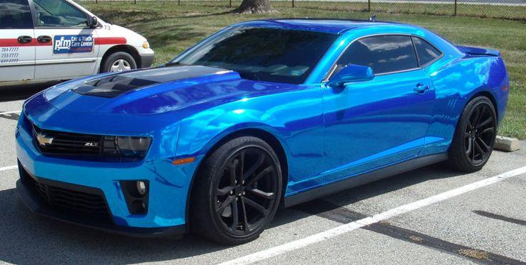 Blue Chrome Vehicle Wrap Google Search Camaro Pinterest Posts Wraps And Vehicles