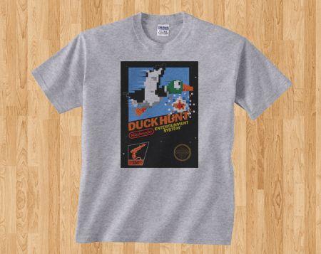 Game Snapshot Nintendo Duck Hunt Retro Gamer Gaming Shooter Gameboy NES Classic 8 bit Tee Tshirt T-Shirt