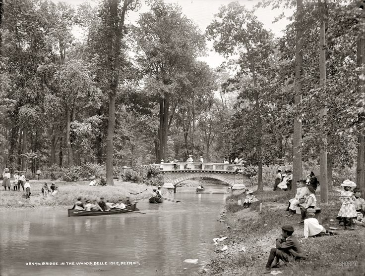 Belle Isle Park in Detroit circa 1905