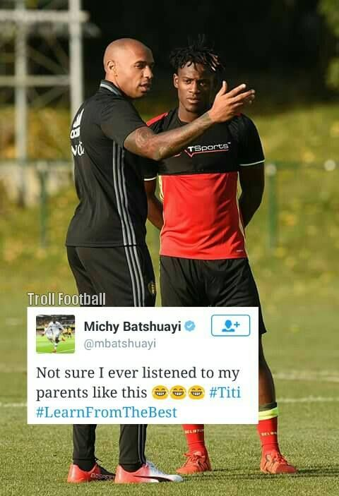 Michy Batshuayi: learning from the best.
