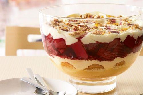 Vanilla, Rhubarb and Ginger Trifle Golda's Kitchen