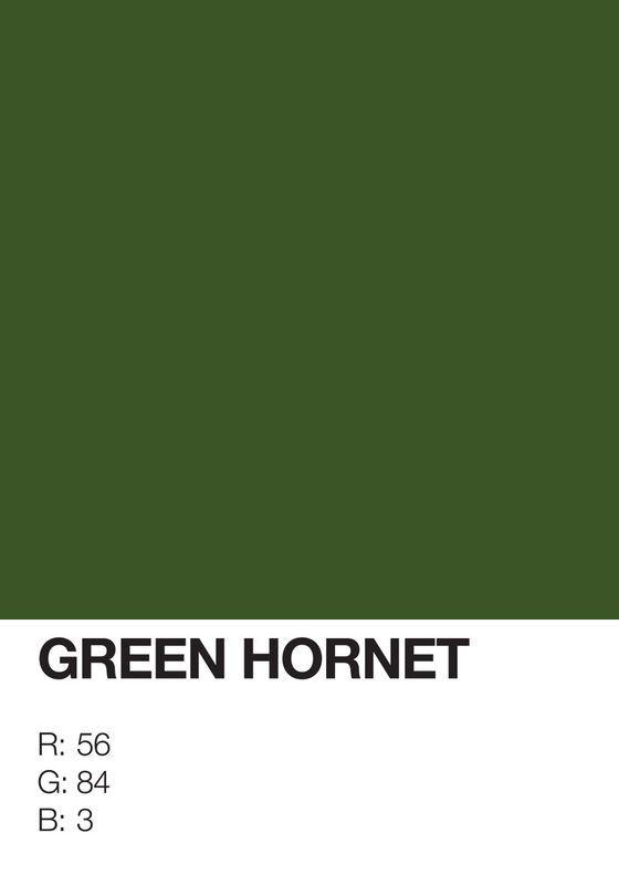 Pantone Superheroes Green Hornet