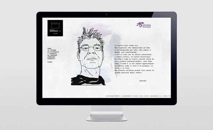 Podere Sapaio - Illustrazioni & Sito web www.aldosegat.com