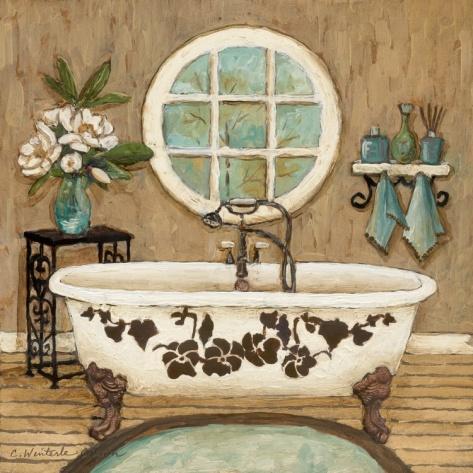 Country Inn Bath I Print by Charlene Olson at Art.com