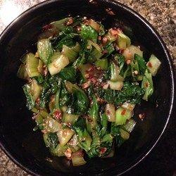 Spicy Bok Choy in Garlic Sauce - YUM! The garlic sauce is so good!