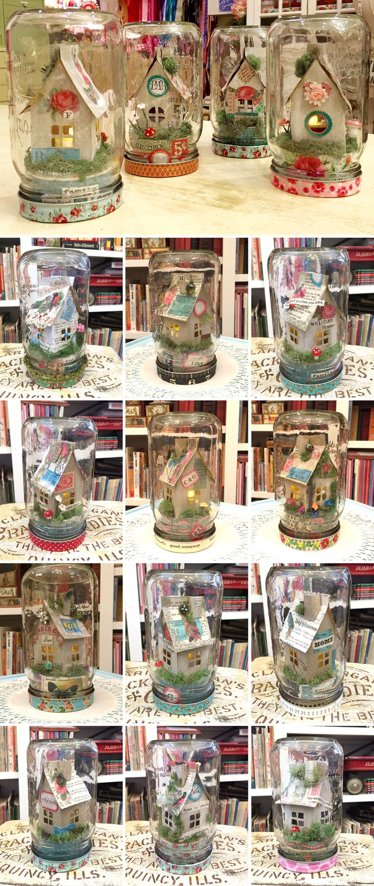 CH_IB_Mason_Luminary_House_Student_Work - Cathe has a kit with tutorial to help you make your own mini home in a jar.