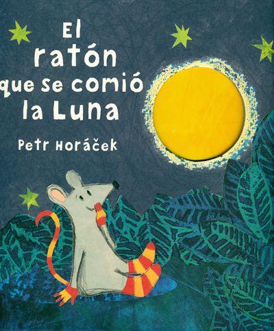 El ratón que se comió la luna -Entrañable cuento en el que la inocencia de un pequeño ratón le lleva a confundir un reluciente plátano con un trozo de la luna. Como, al olisquearla, le parece que aquello debe de saber delicioso, decide darle un mordisquito, y otro, y otro.. - ED JUVENTUD
