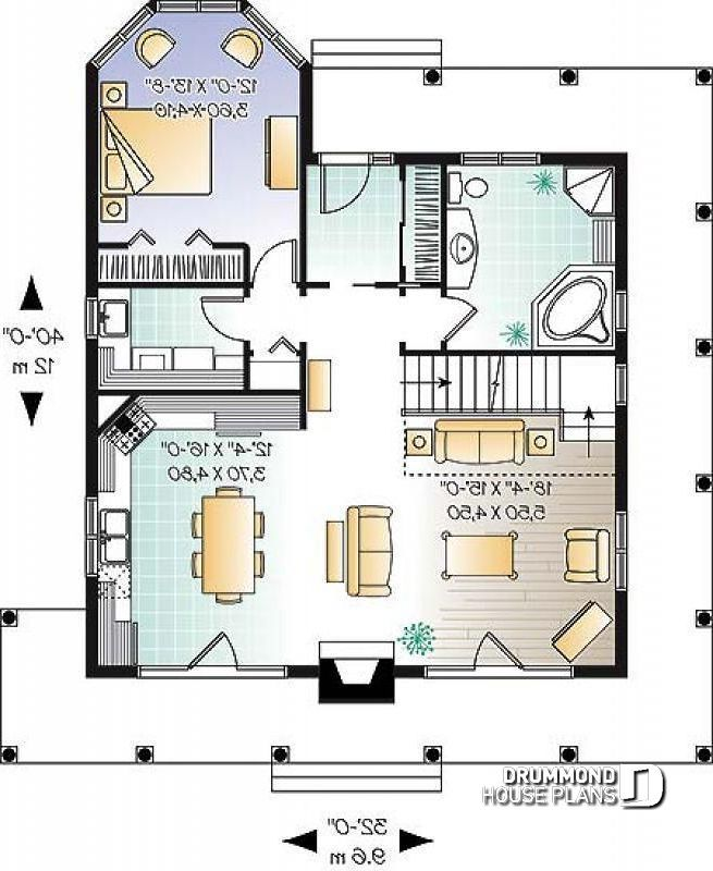 23+ House plans with wrap around porch and open floor plan type