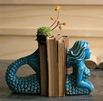 Mermaid Bookends  www.GroovyInclinations.com