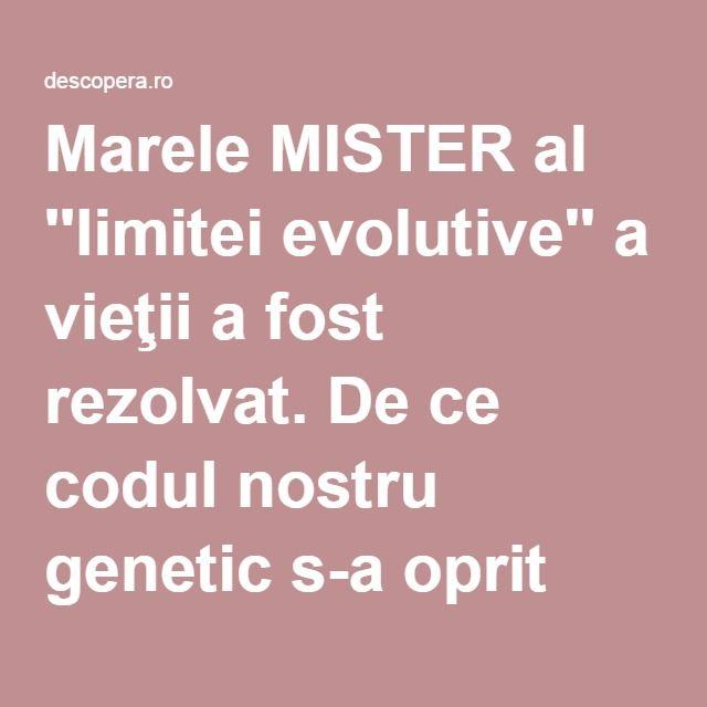 Marele MISTER al ''limitei evolutive'' a vieţii a fost rezolvat. De ce codul nostru genetic s-a oprit din evoluţie