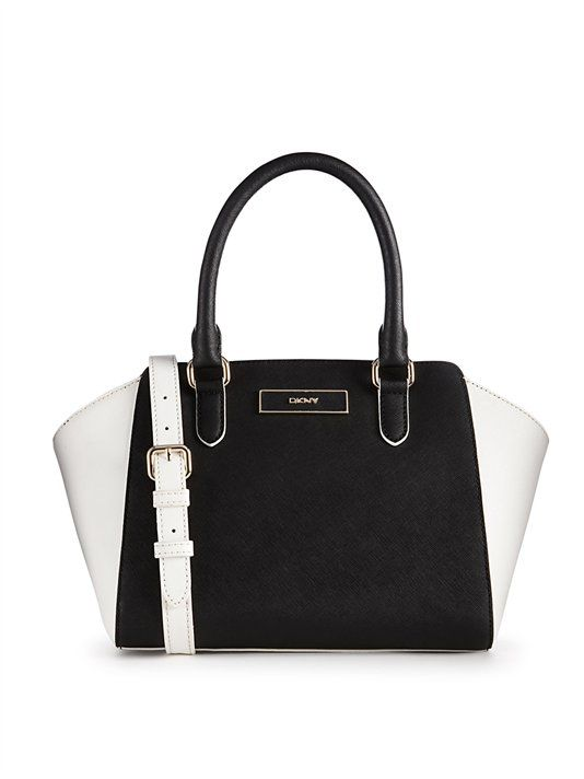 Saffiano Leather Small Tote - DKNY