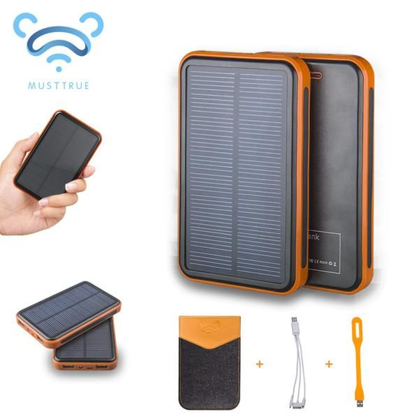Super Solar Charger Waterproof Powerbank ,backup Power Bank Bateria  External Portable For All Cellphone Mobile