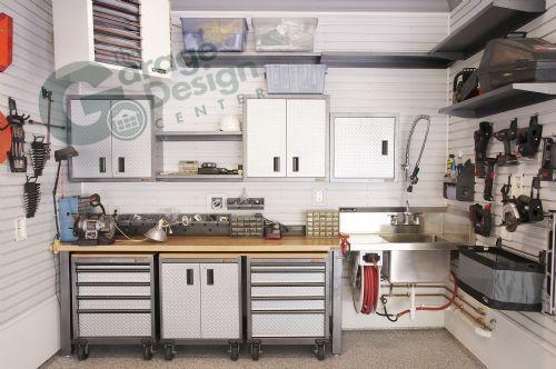 Garage workshop, Gladiator workbench, garage shop, Gladiator garage cabinets, garage storage, epoxy floor, Gladiator Wall cabinets