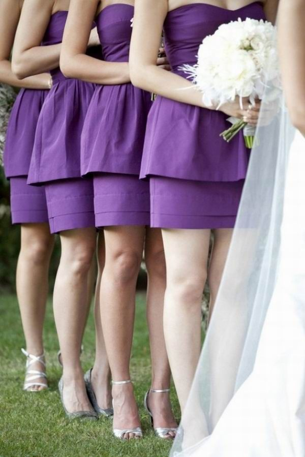 plum bridesmaid dresses for purple fall wedding. I like the color but not the style