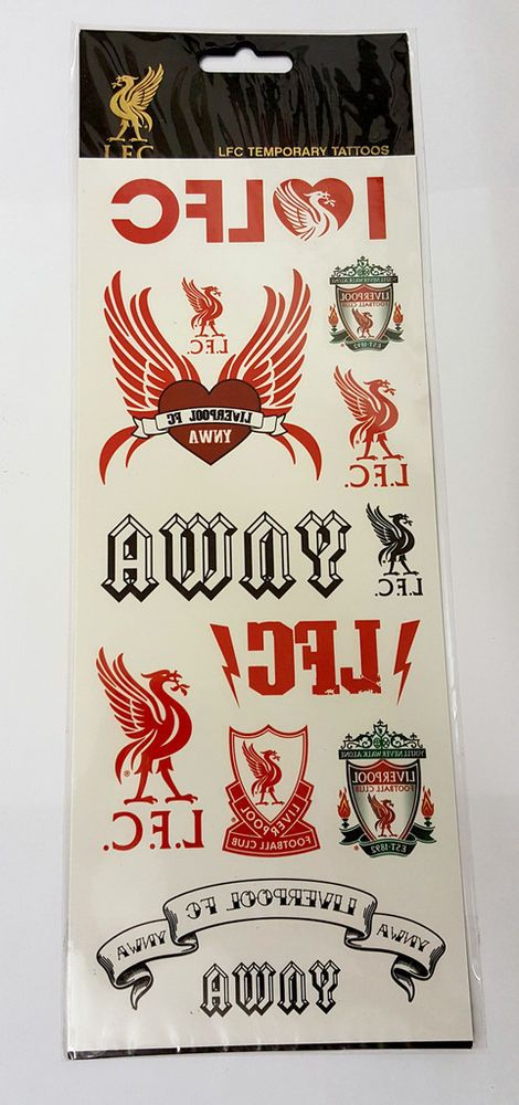 100% Official Liverpool FC LFC Temporary Tattoo Set - 12 Amazing Tattoos in Sports Memorabilia, Football Memorabilia, Trading Cards/ Stickers | eBay
