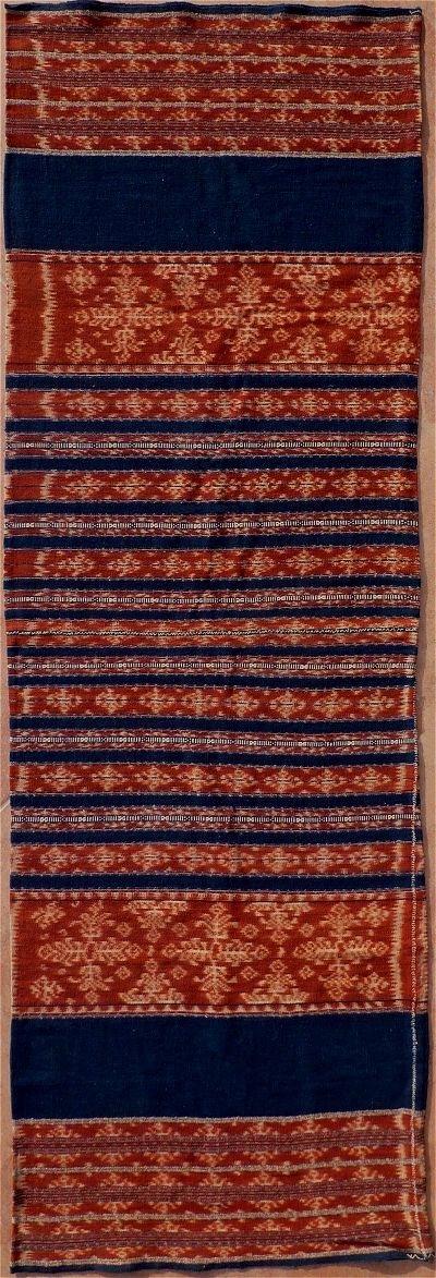 Indonesian Warp Ikat Sarong Textile. Savu Group, Savu, Indonesia.1930.