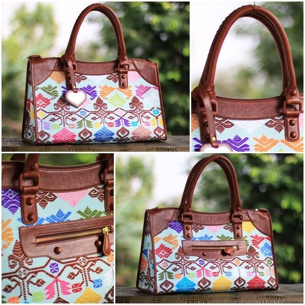 white songket bali bag