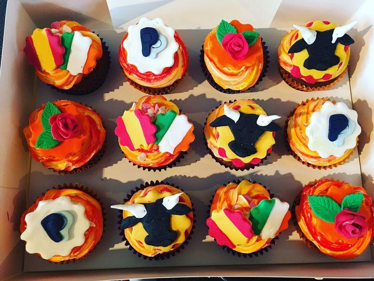 Spanish Theme Cupcakes Cupcakes Pinterest Cupcake