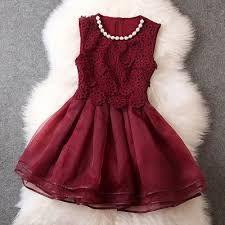 Resultado de imagen para vestidos color vino cortos                                                                                                                                                                                 Más