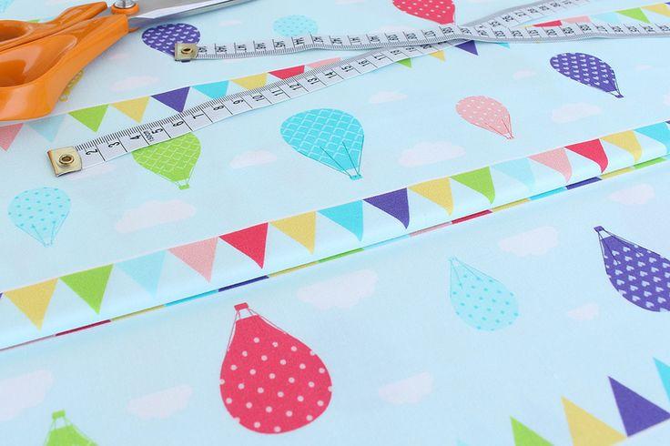 BALONY - Tkanina 100% bawełna Sweet Craft - SweetCraft - Tkaniny dla dzieci