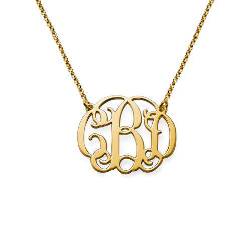Celebrity Monogram Necklace in 18k Gold Plating | MyNameNecklace