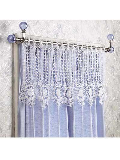 Crochet for the Home - Crochet Decor Patterns - Star Flowers Valance