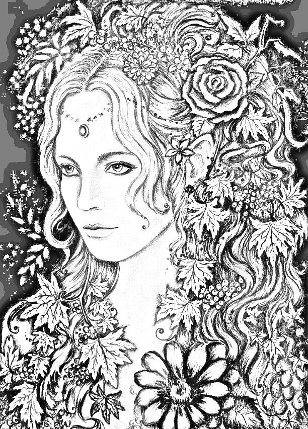Beautiful Lady Colouring Page